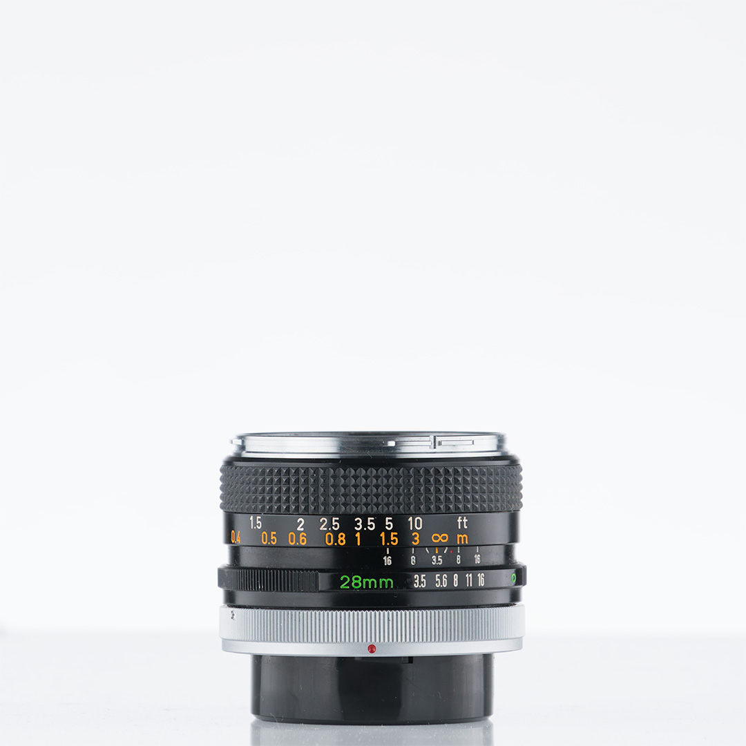Canon FD 28mm f/3.5 (chrome nose)